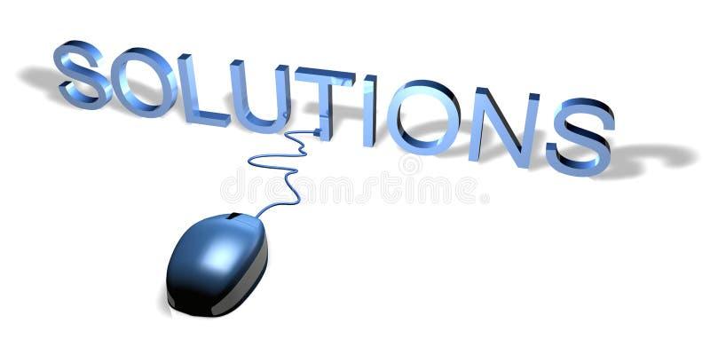 Soluções do rato ilustração stock