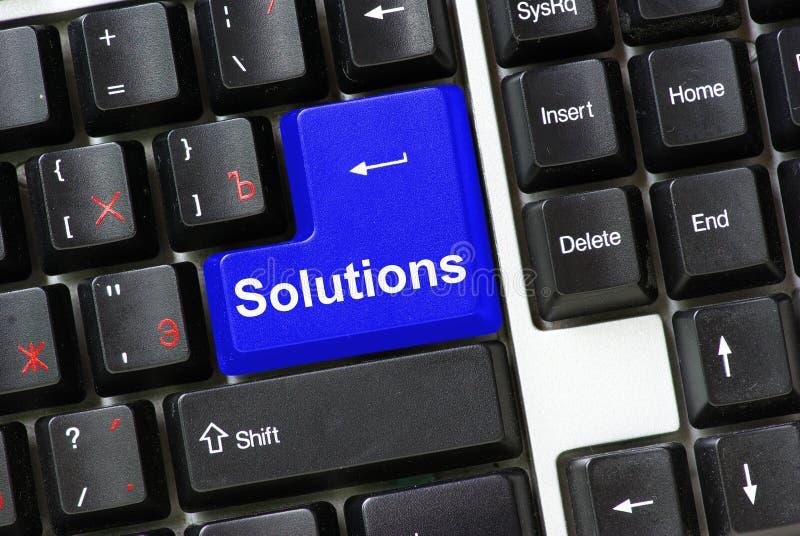 Soluções do teclado imagem de stock royalty free