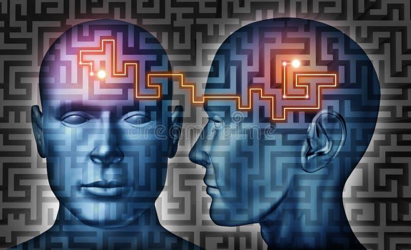 Soluções de uma comunicação ilustração do vetor