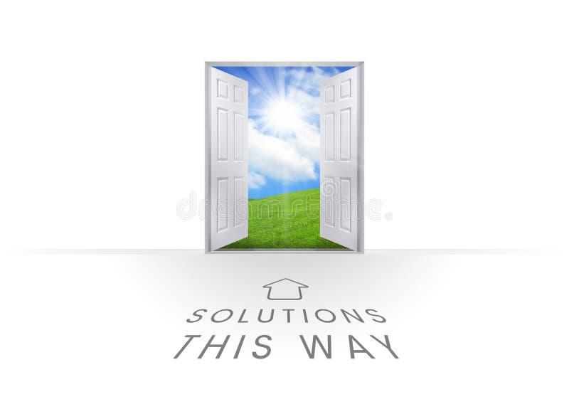 Soluções este sinal da maneira ilustração royalty free