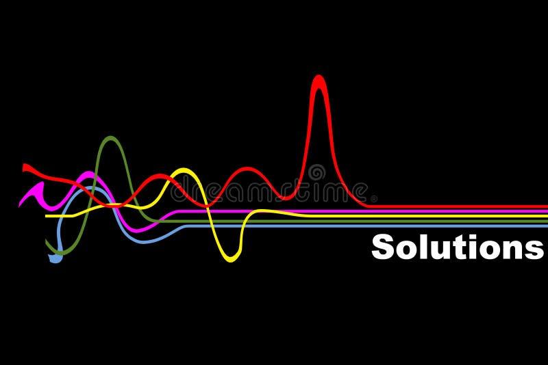 Solución ilustración del vector
