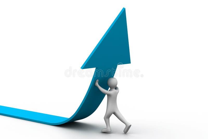Solución correcta del crecimiento del asunto ilustración del vector