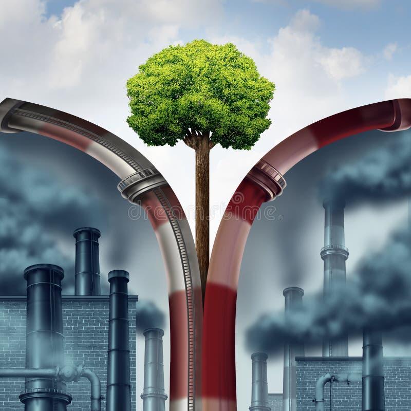 Solución de la contaminación ilustración del vector