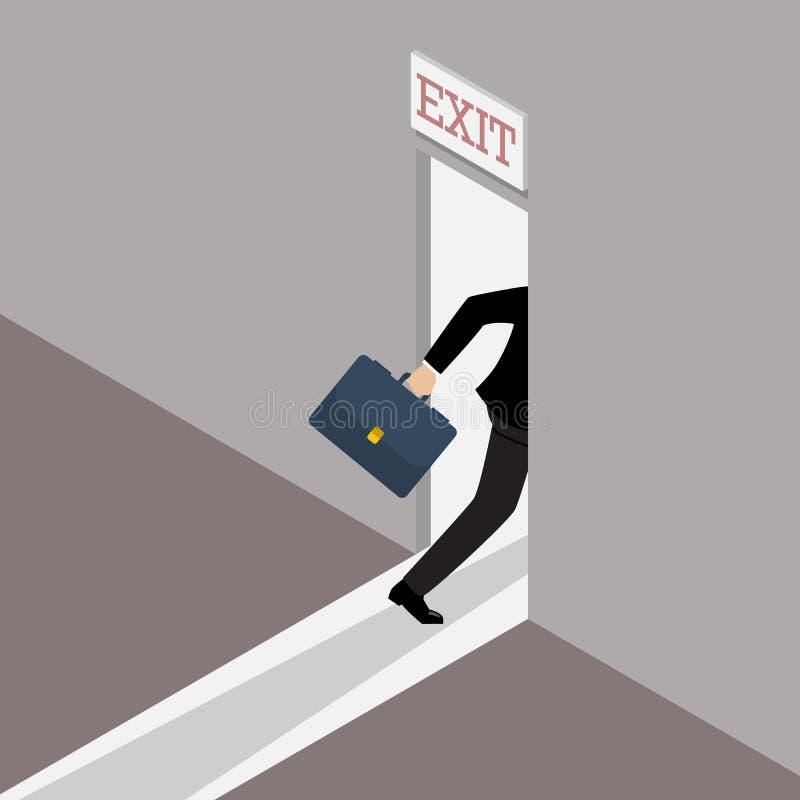 Solución del negocio o estrategia de salida ilustración del vector
