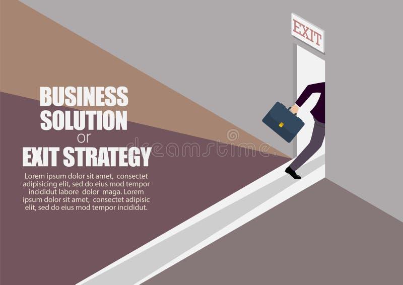 Solución del negocio o estrategia de salida infographic ilustración del vector