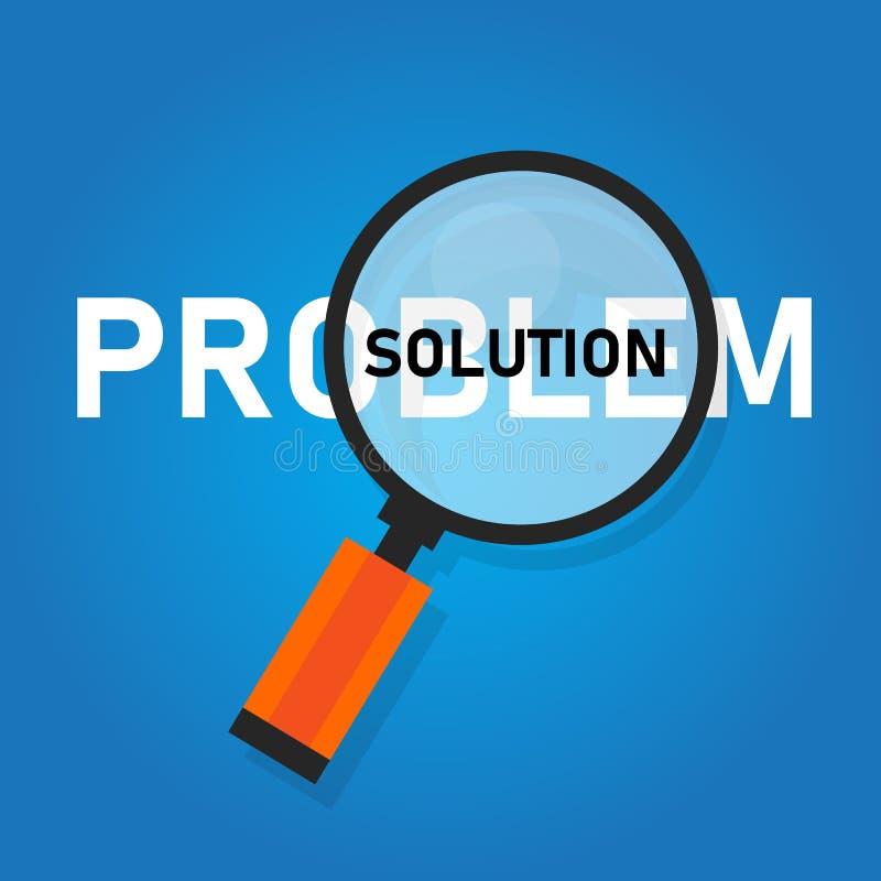 Solución del problema que busca soluciones solucionando concepto de los problemas libre illustration