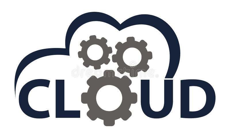 Solución Logo Design Template de la nube stock de ilustración
