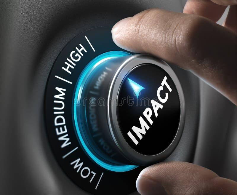 Solución o comunicación de alto impacto stock de ilustración