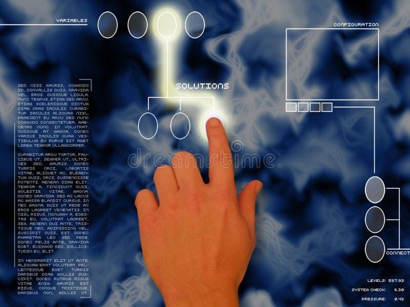 Soluciones azules stock de ilustración