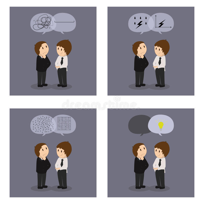 Soluciones creativas del asunto stock de ilustración
