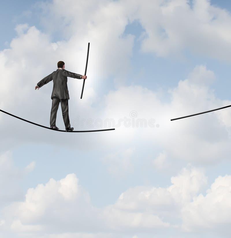 Soluciones de la gestión de riesgos stock de ilustración