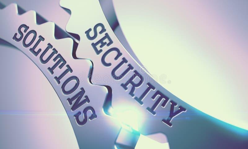 Soluciones de la seguridad - mecanismo de engranajes metálicos 3d libre illustration
