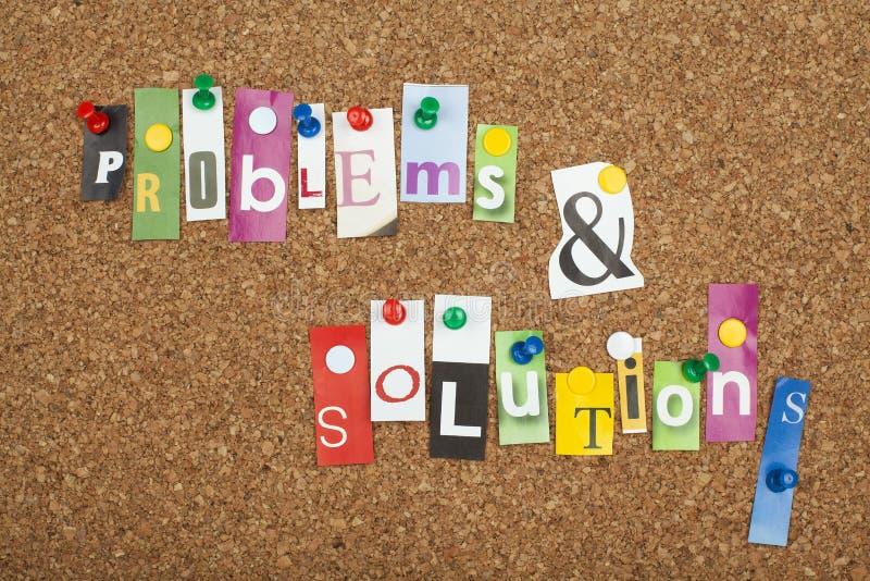 SOLUCIONES DE LOS PROBLEMAS imagenes de archivo