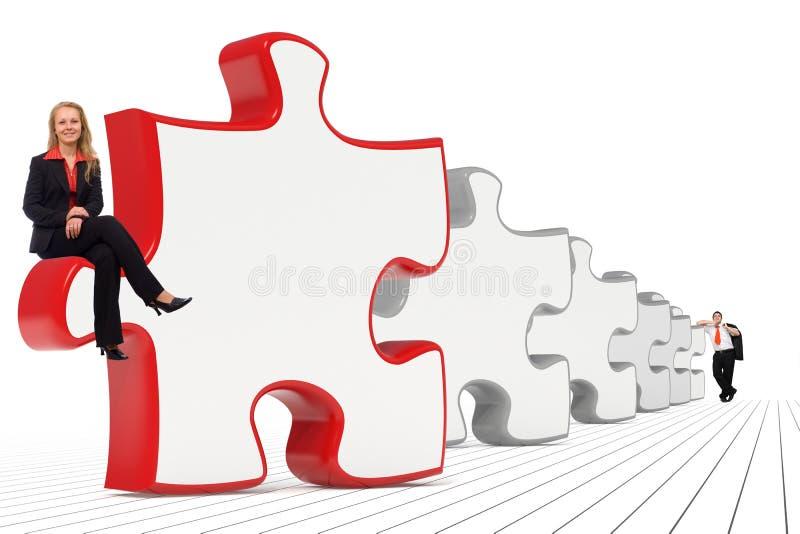 Soluciones del asunto - hombres de negocios ilustración del vector