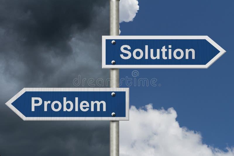 Soluciones del hallazgo para sus problemas ilustración del vector