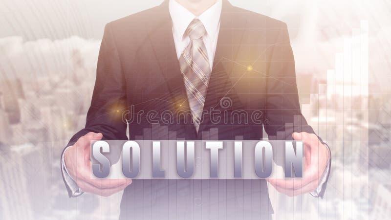 Soluciones del negocio, éxito y concepto de la estrategia foto de archivo libre de regalías