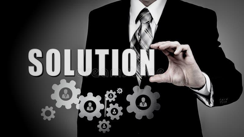 Soluciones del negocio, éxito y concepto de la estrategia imagen de archivo libre de regalías