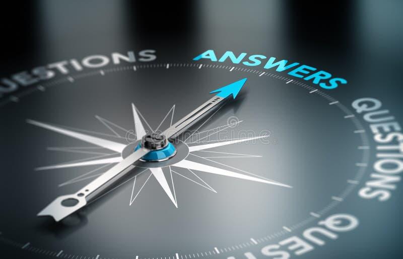 Soluciones del negocio, consultando stock de ilustración