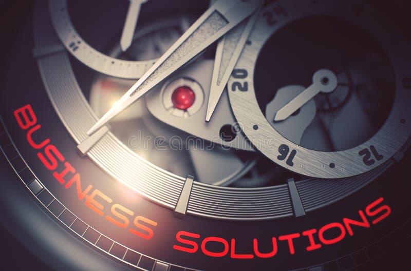 Soluciones del negocio en el mecanismo elegante del reloj 3d libre illustration