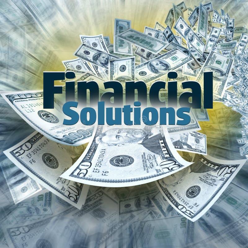 Soluciones financieras foto de archivo libre de regalías