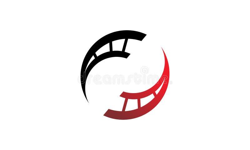 Soluciones Logo Design Template de la película stock de ilustración