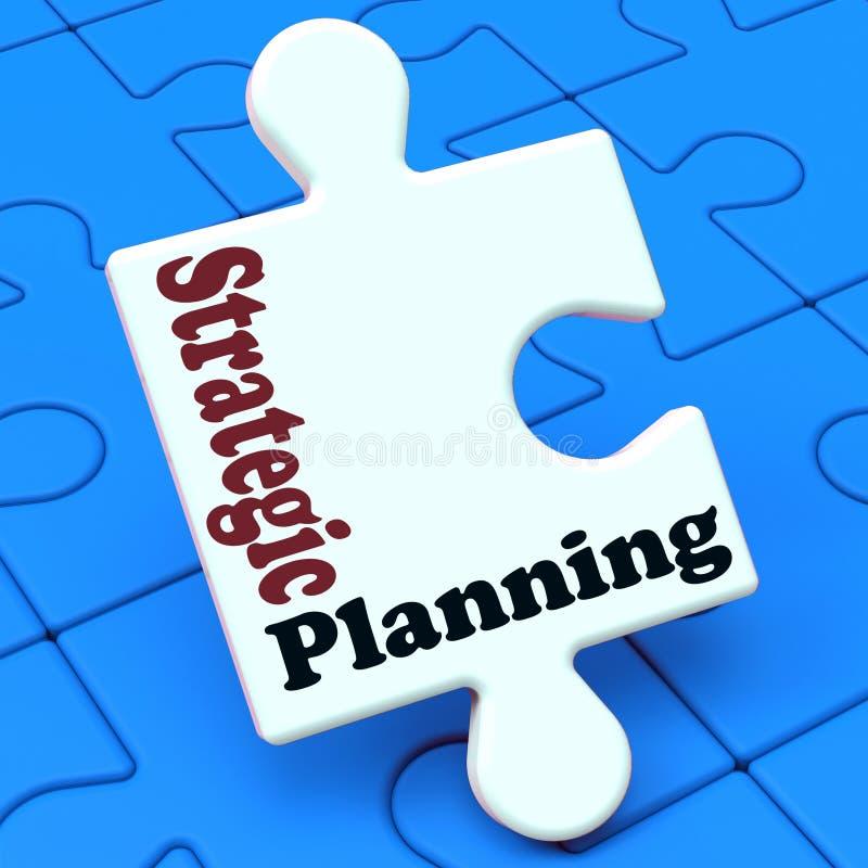 Soluciones o metas del negocio de demostraciones del planeamiento estratégico ilustración del vector