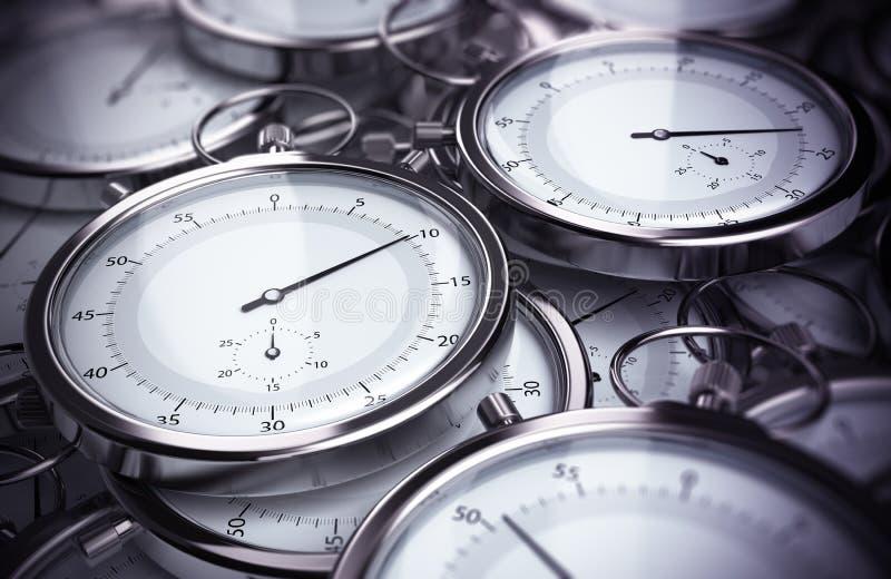 Soluciones y productividad de la gestión de tiempo ilustración del vector