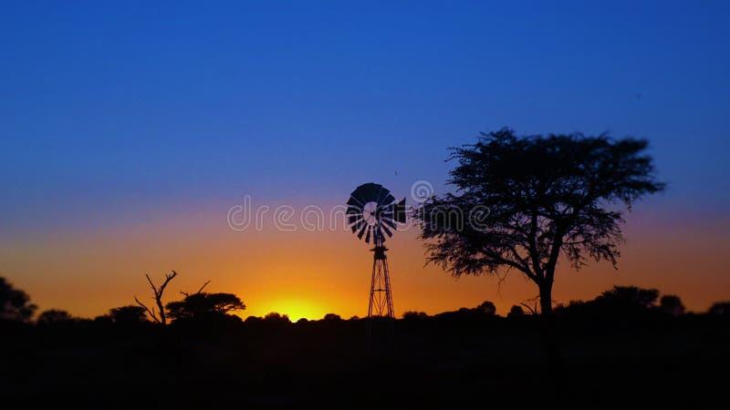 Soluppgång över Namibai royaltyfria bilder