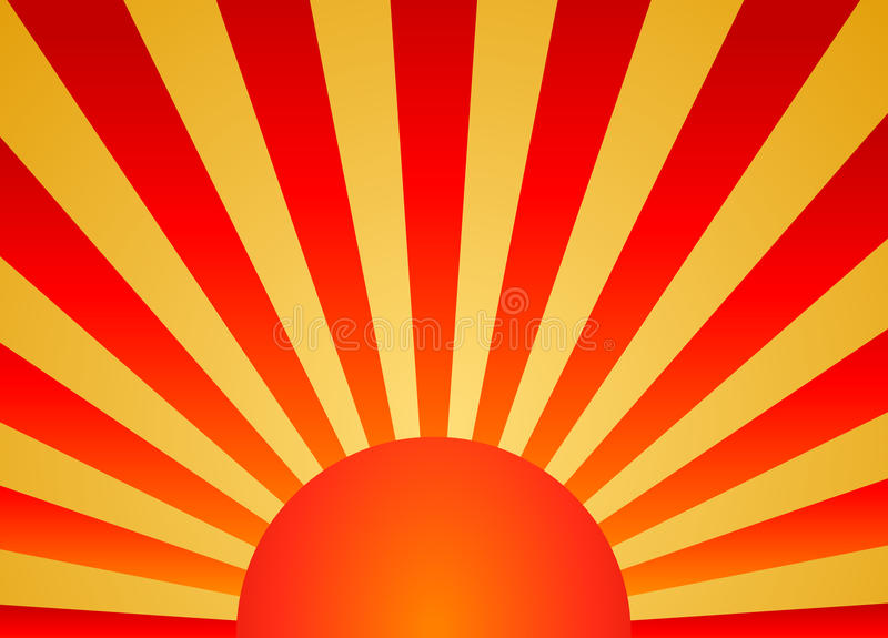 soluppgång stock illustrationer