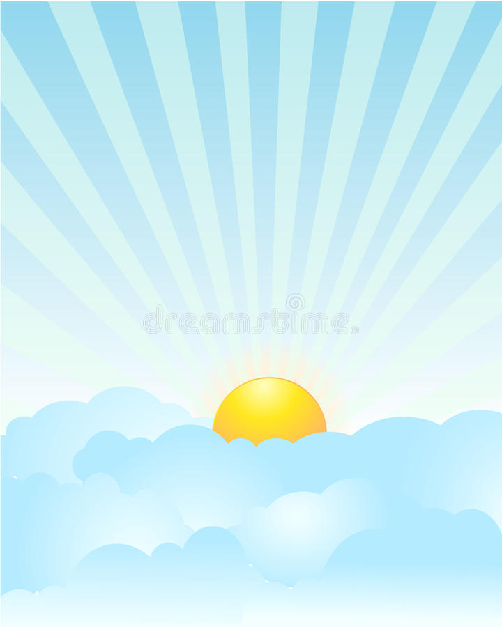 soluppgång royaltyfri illustrationer