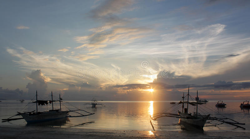 Soluppgång Boracay royaltyfria bilder