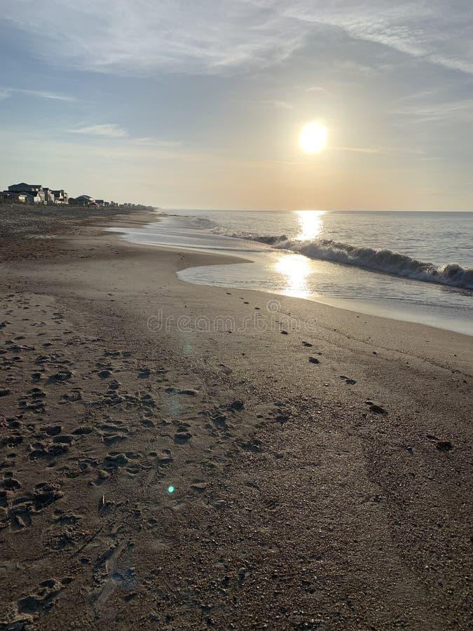 Soluppgång Edisto ö, South Carolina royaltyfri bild