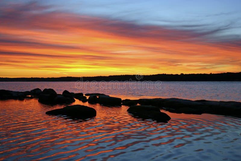 soluppgång för 1000 öar arkivfoto
