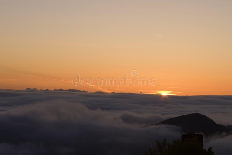 soluppgång för haleakalamaui montering royaltyfria foton
