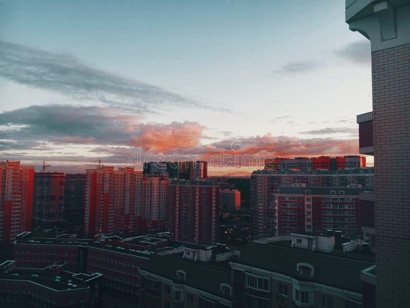 Soluppgång i Butovo arkivbild