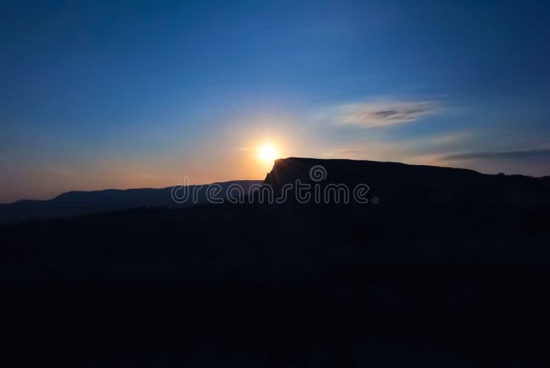 Soluppgång i Cappadocia arkivbilder