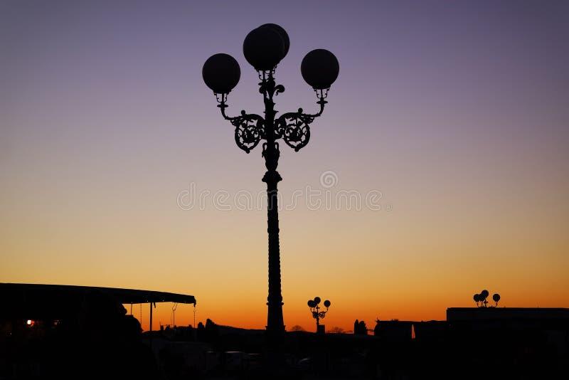 Soluppgång i florence royaltyfri fotografi
