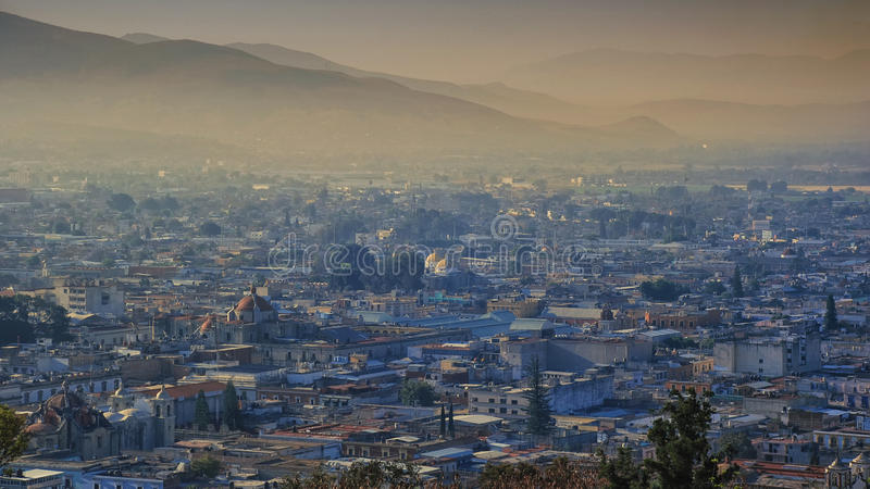 Soluppgång i Oaxaca fotografering för bildbyråer