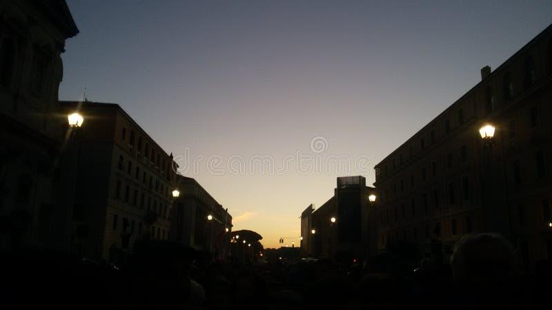 Soluppgång i Rome royaltyfri foto