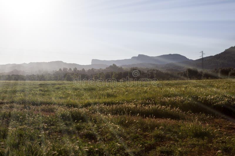 Soluppgång i Teruel royaltyfri fotografi