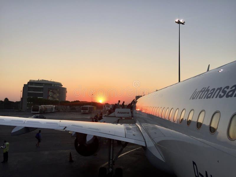 Soluppgång i Tyskland royaltyfria bilder