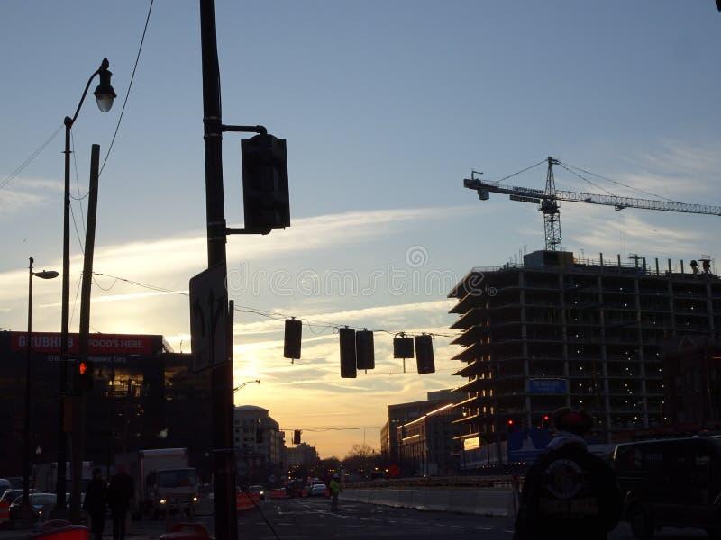 Soluppgång i Washington D C fotografering för bildbyråer