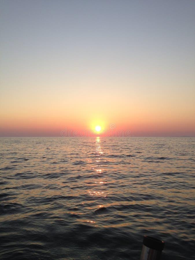 Soluppgång Lake Ontario fotografering för bildbyråer