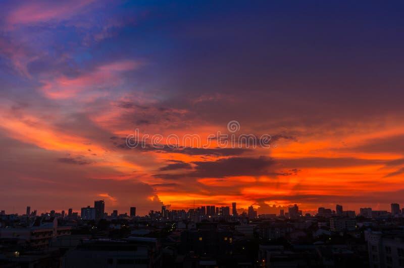 Soluppgång på Bangkok, huvudstad royaltyfri bild