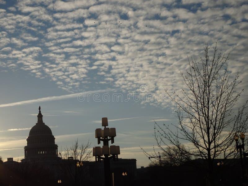 Soluppgång in på Capitol Hill fotografering för bildbyråer