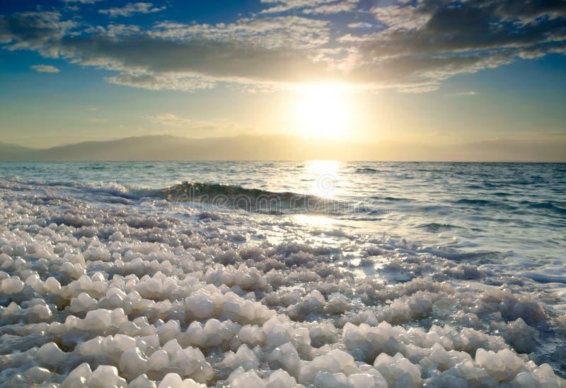 Soluppgång på det döda havet, Israel fotografering för bildbyråer