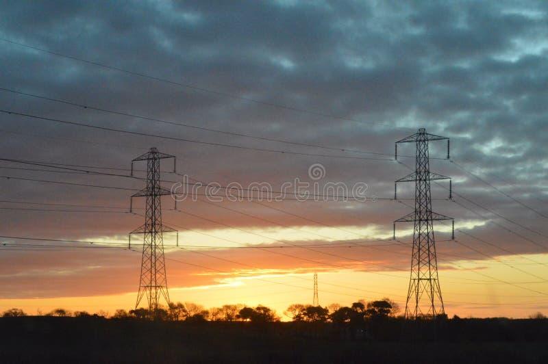 Soluppgång på min gryning fotografering för bildbyråer
