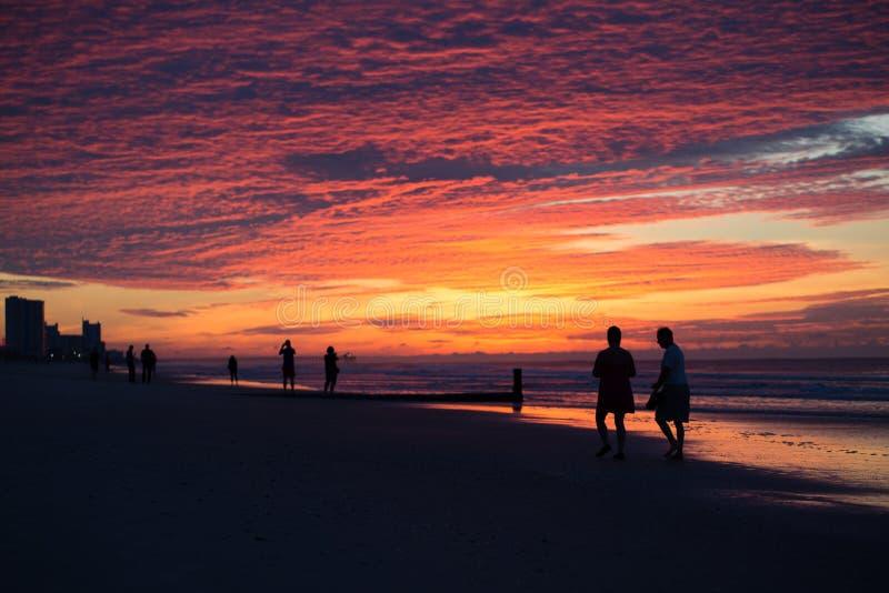 Soluppgång på Myrtle Beach arkivfoto
