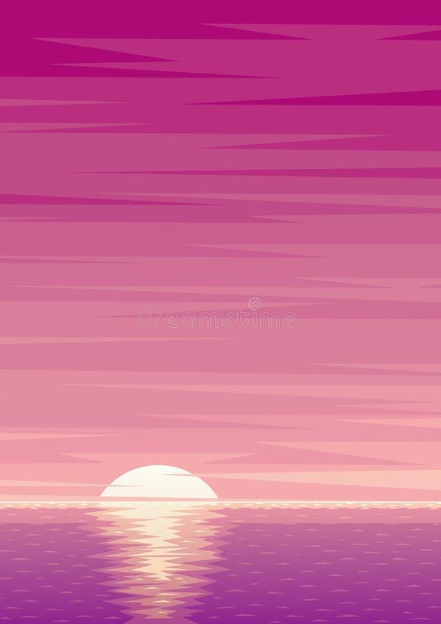 Soluppgångbakgrund vektor illustrationer