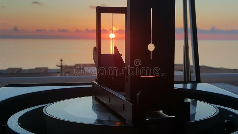 Soluppgånglager royaltyfri foto